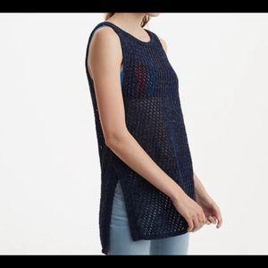 Lou & Grey Open Knit Sleeveless Tunic